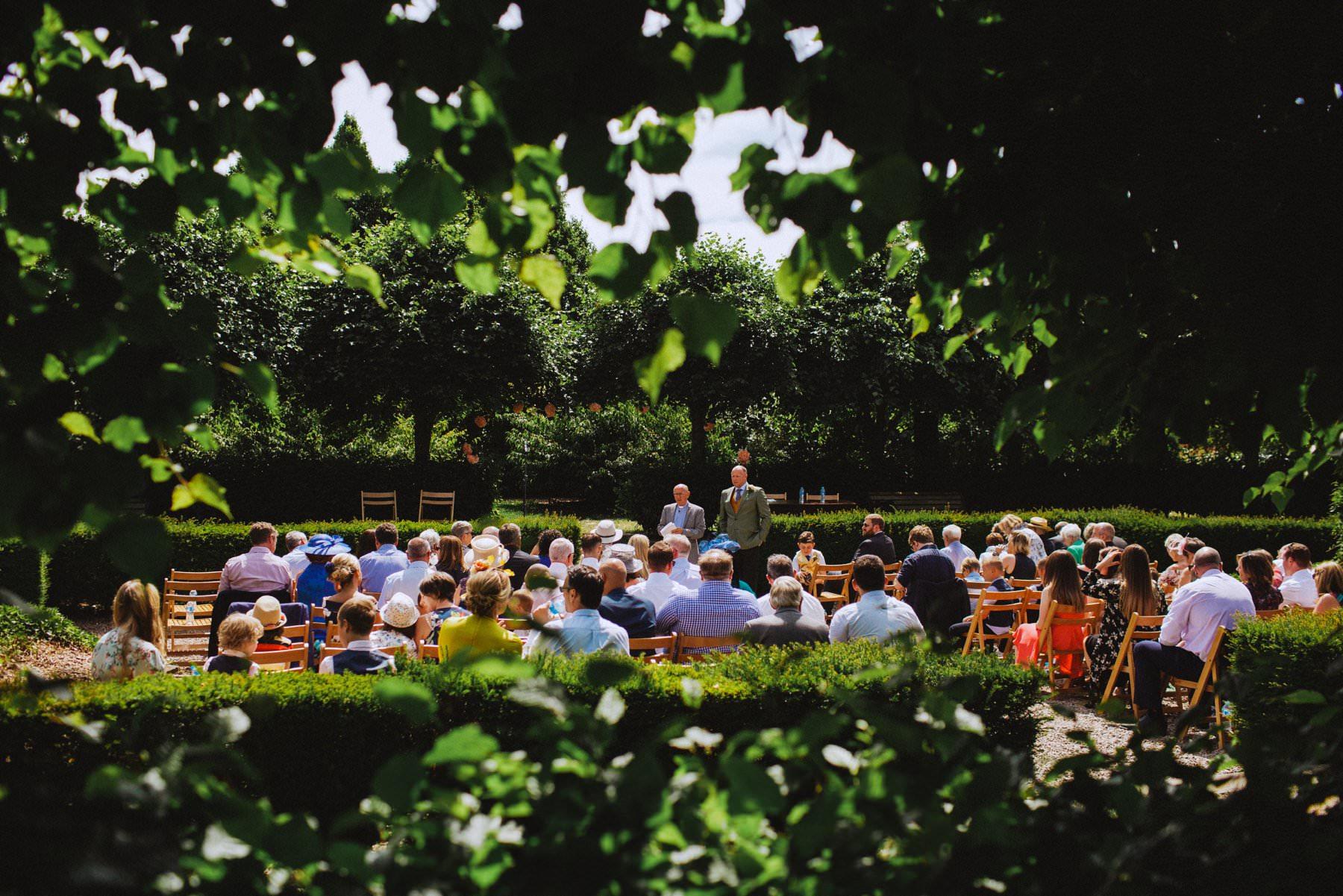 outdoor ceremony at larchfield estate northern ireland