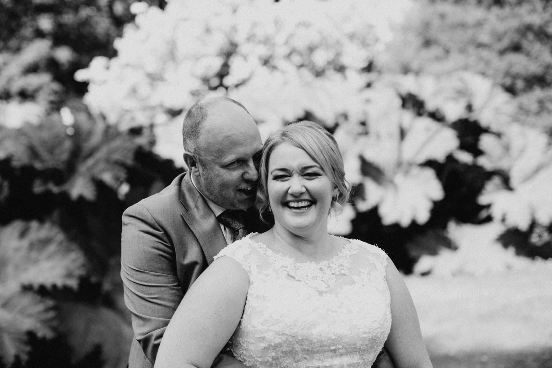 fun wedding portraits at larchfield estate northern ireland