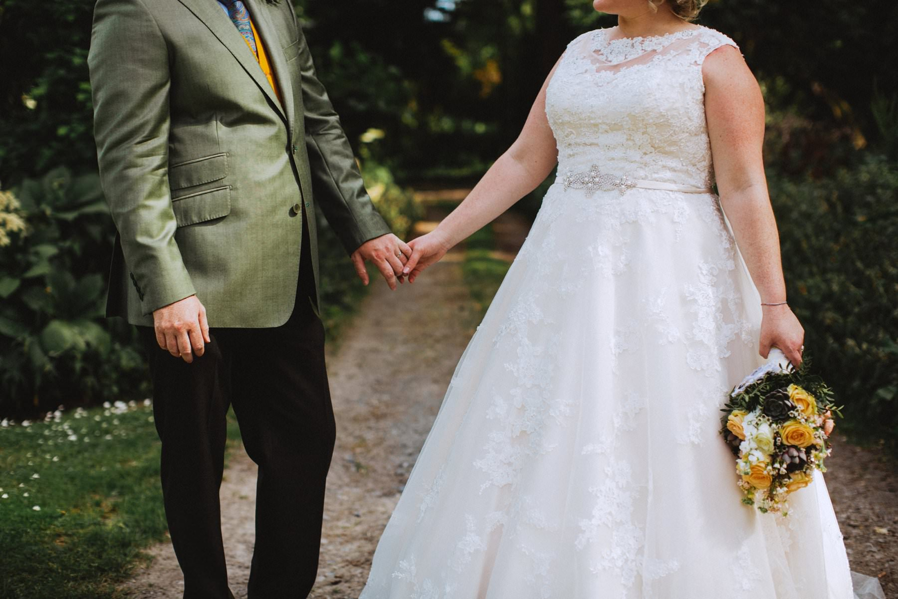 holding hands is cute at larchfield estate northern ireland