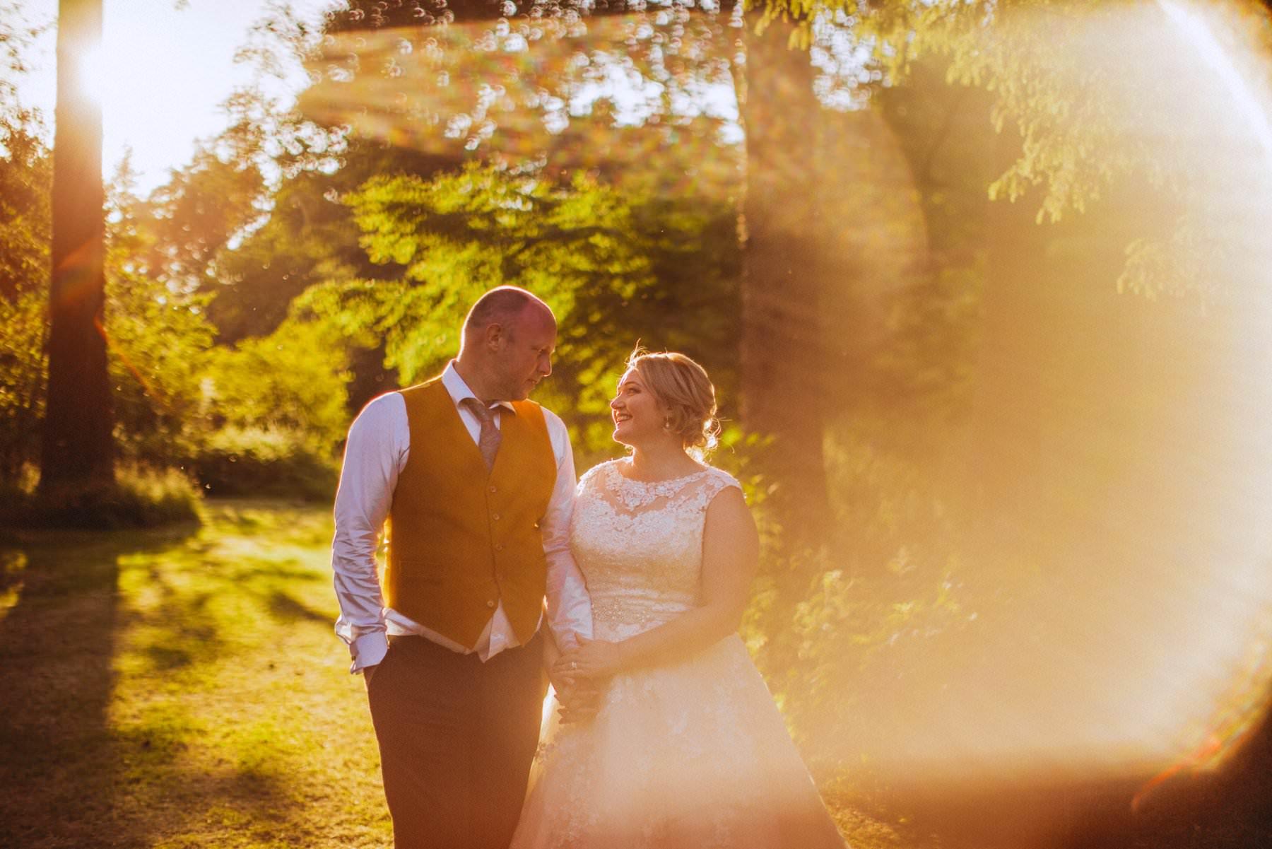 sunset wedding photography at larchfield northern ireland